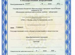 Свидетельство об аккредитации